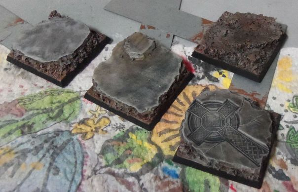 Bases washed and drybrush highlighted 2