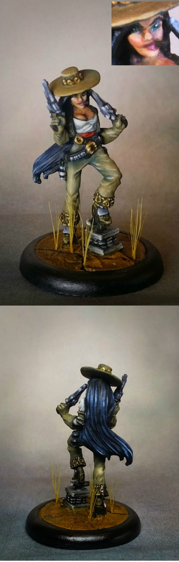 Wyrd Malifaux Perdita Ortega - Gaming Display with Level 2 base