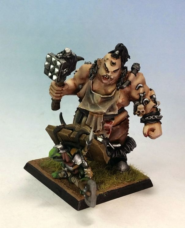 GW Ogre Slaughtermaster conversion Standard + with Level 1 basing