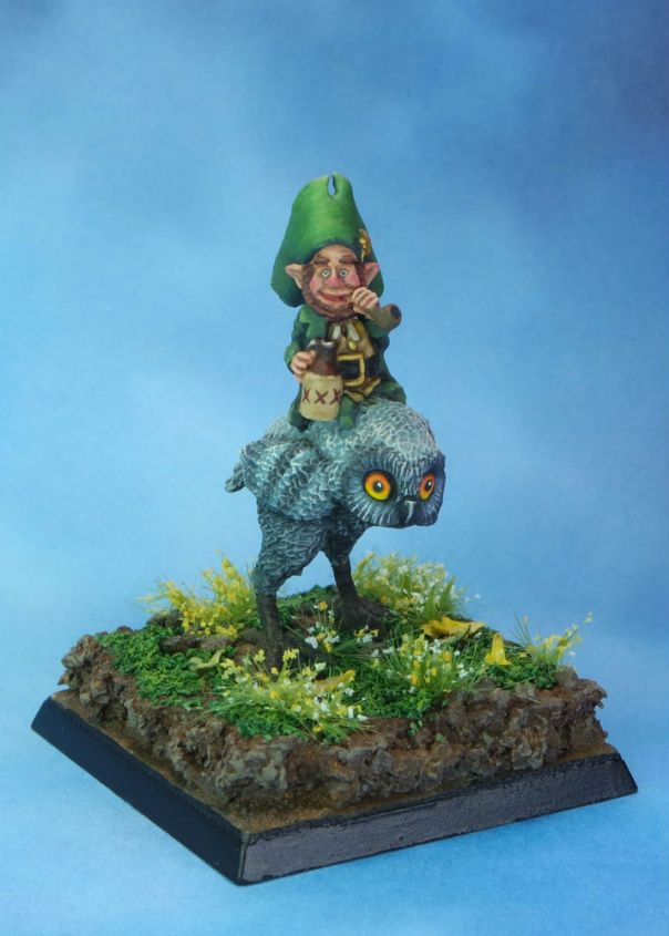MGM Painting Reaper Leprechaun and Owl front