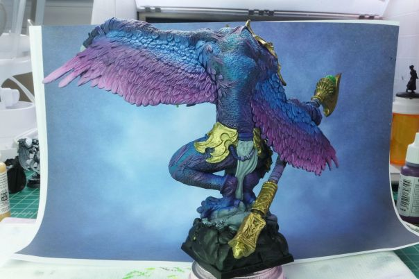 Ultraforge Vrock WIP MGM Painting 3-10-15 back