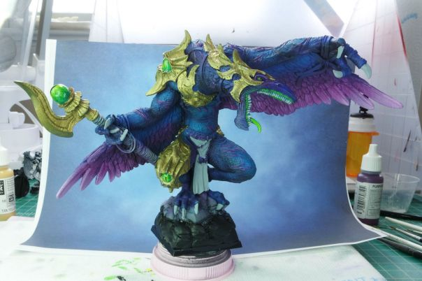 Ultraforge Vrock WIP MGM Painting 3-10-15 front
