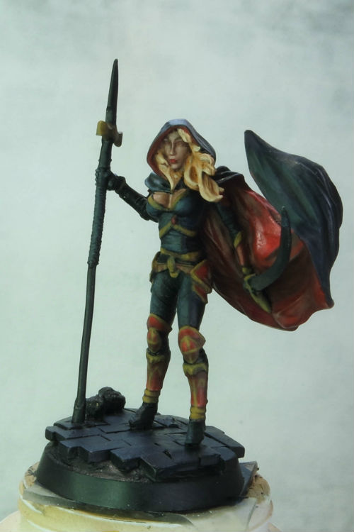 MGM Painting Dark Sword Female Undead Hunter WIP 4-5-15 A