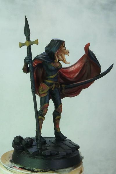 MGM Painting Dark Sword Female Undead Hunter WIP 4-5-15 B