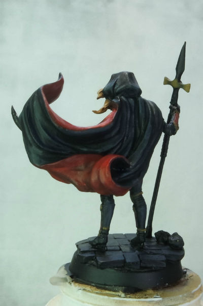 MGM Painting Dark Sword Female Undead Hunter WIP 4-5-15 C