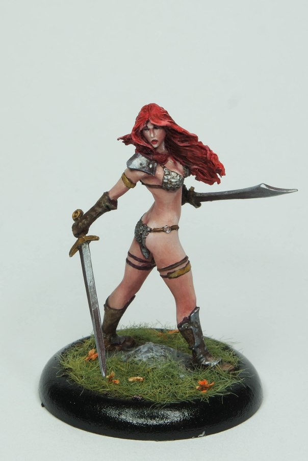 MGM Painting Nocturna Huntress 35mm gaming commission 1-18-17A