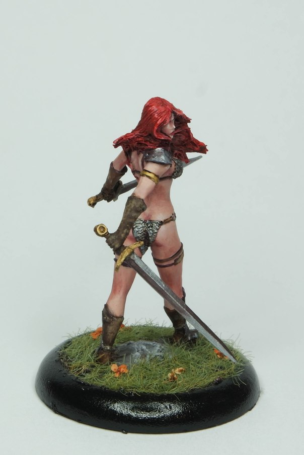 MGM Painting Nocturna Huntress 35mm gaming commission 1-18-17B