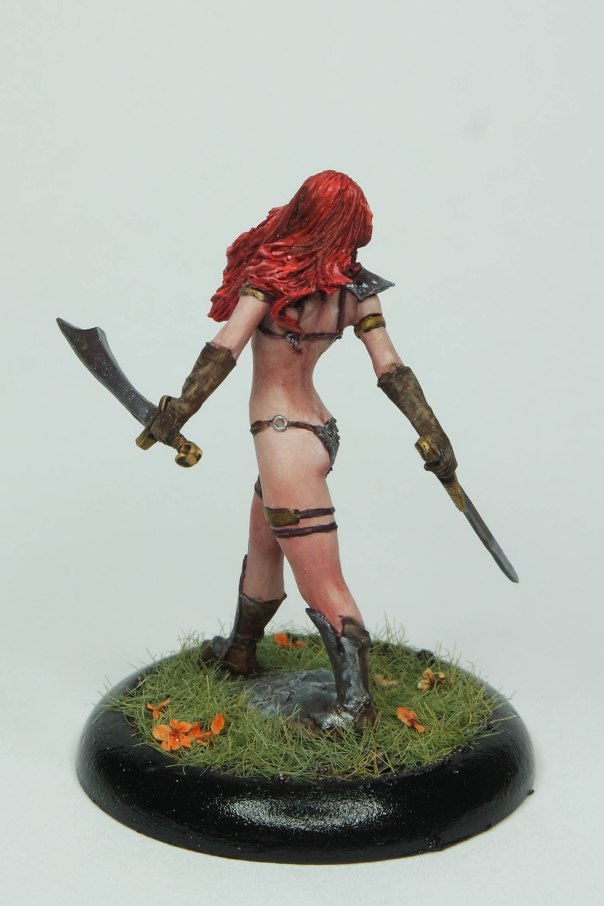 MGM Painting Nocturna Huntress 35mm gaming commission 1-18-17C